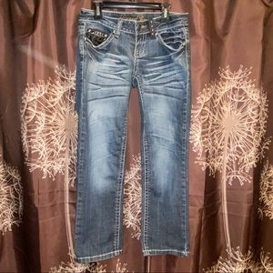 REQUEST JEANS Denim Faded Crop Cropped 3 / 26